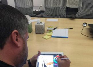 Olaf en el iPad Pro