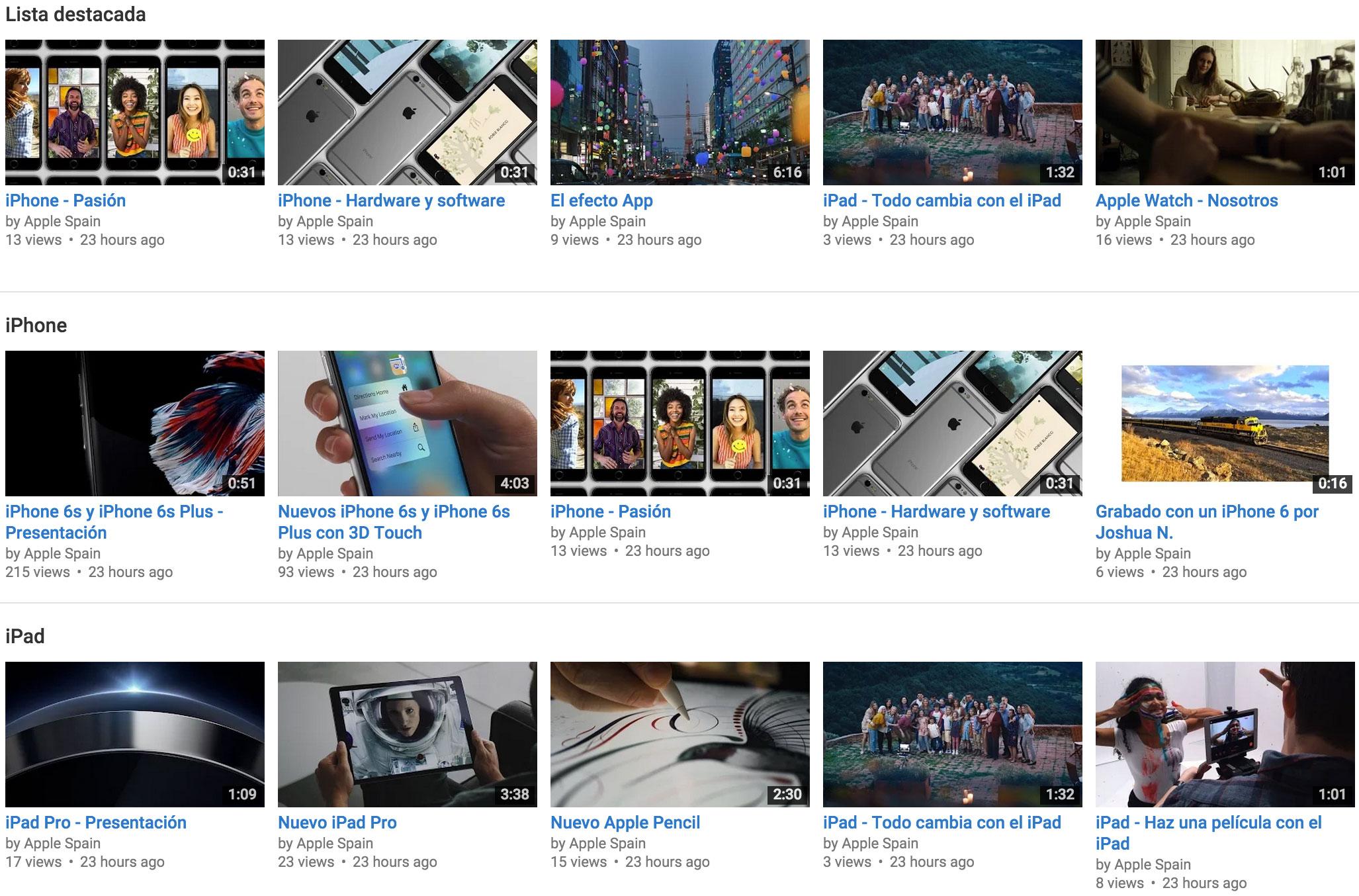 Vídeos de Apple en Español