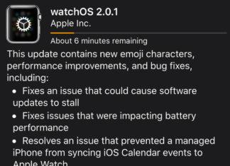 Actualización a watchOS 2.0.1