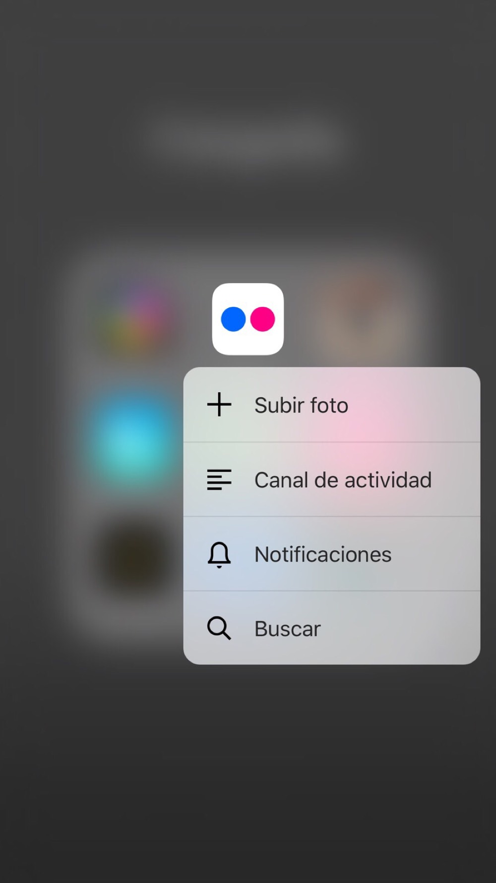 Flickr con 3D Touch