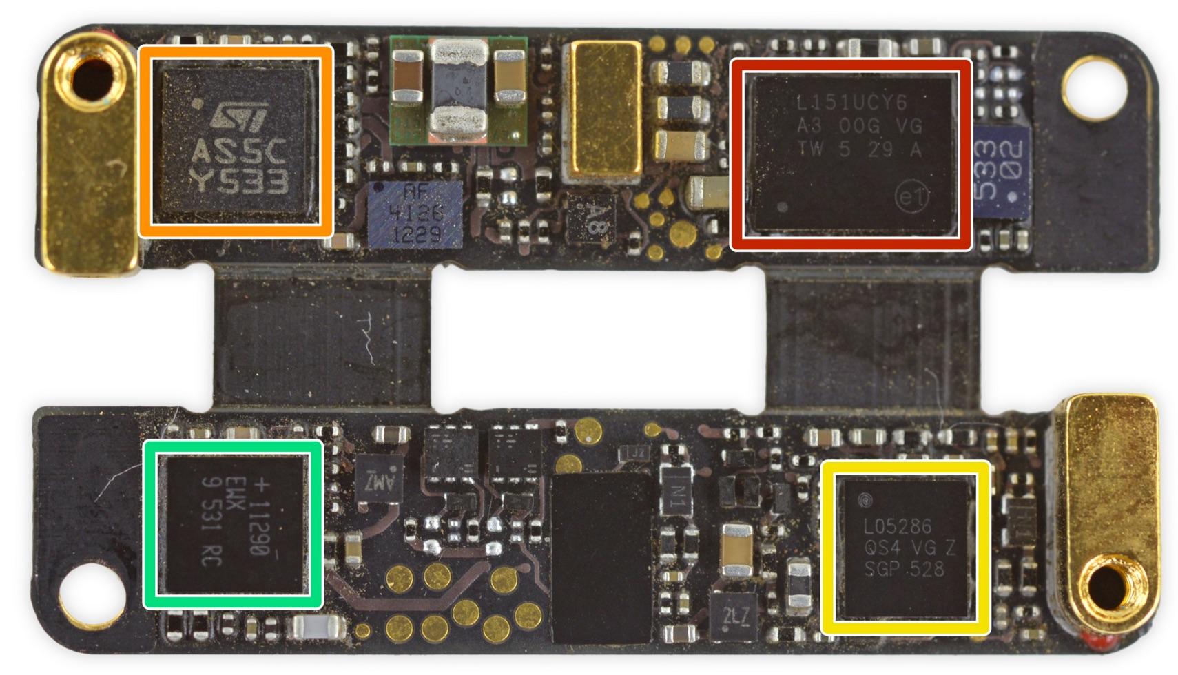Placa base del Apple Pencil