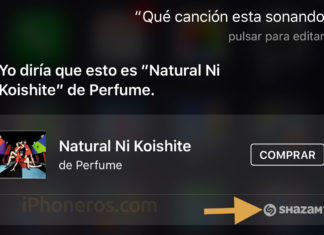 Siri detectando una canción gracias a Shazam