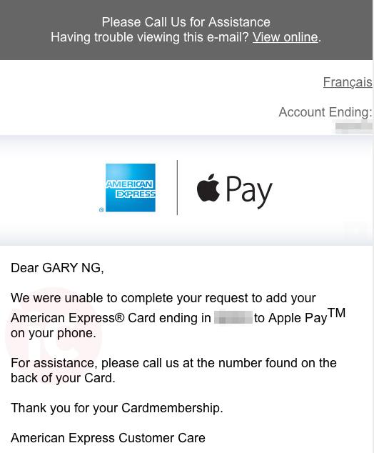 Tarjetas American Express no operativas todavía en Canadá