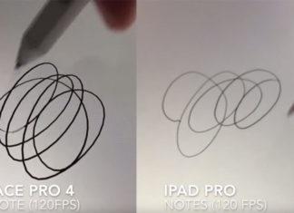 Comparación de los trazos entre la Surface Pro 4 y el iPad Pro