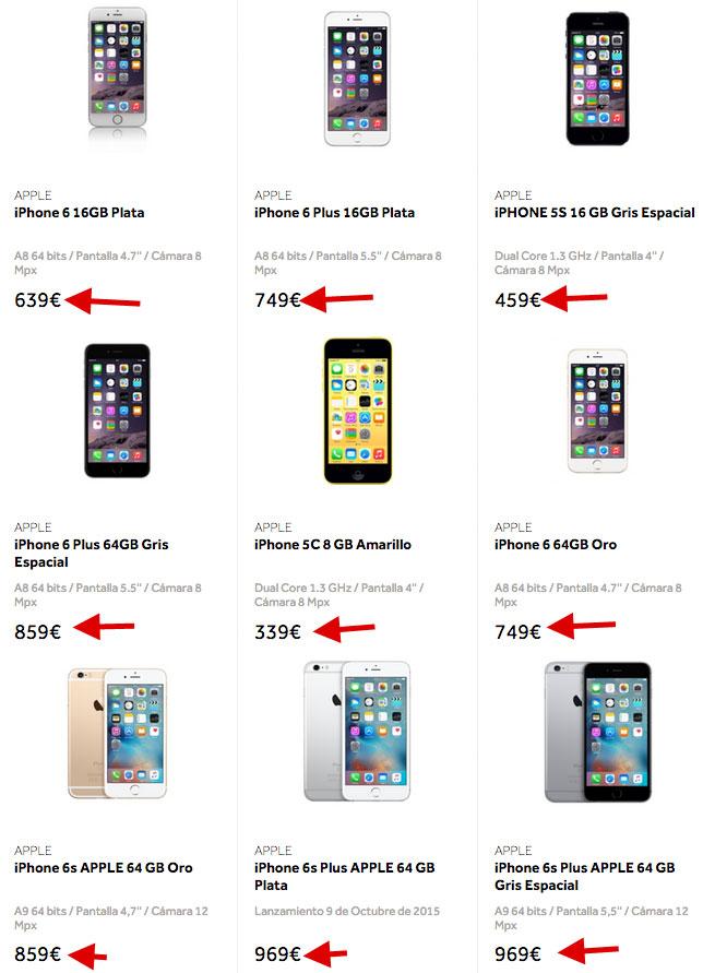 iPhones rebajados de precio