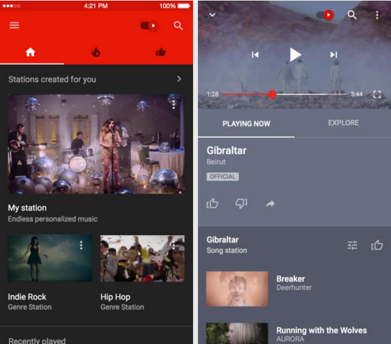 YouTube Music en la App Store