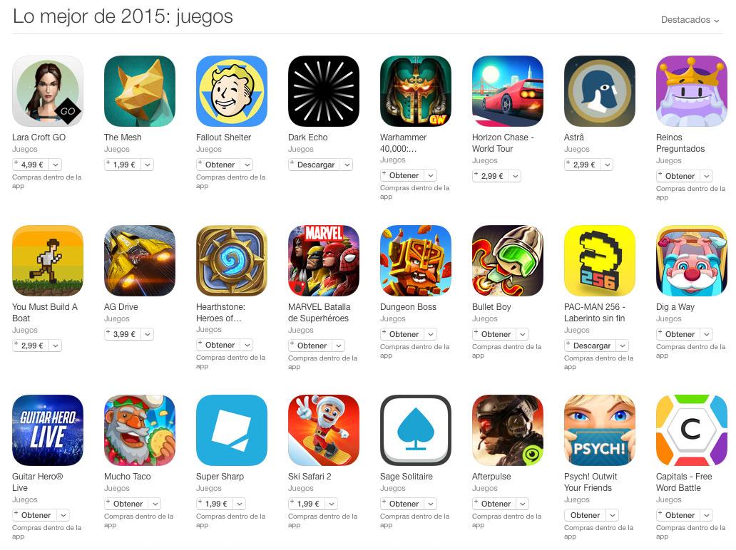 Los mejores juegos del 2015 según Apple