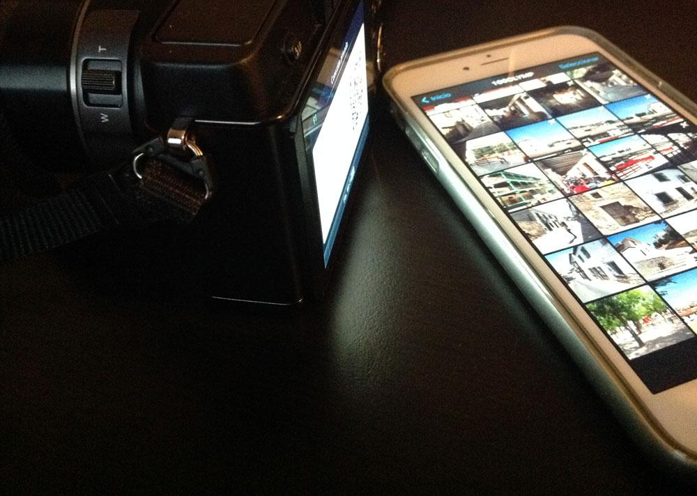 Sincronizando fotos vía Wi-Fi con una PEN-E5 de Olympus