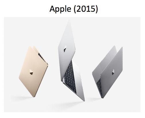 Imagen promocional del MacBook de Apple