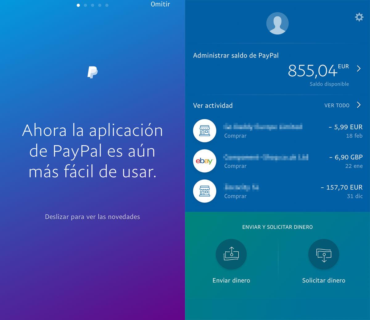Nueva App de PayPal