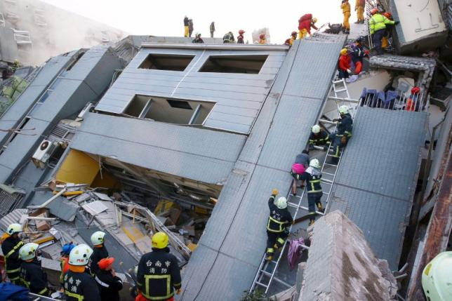 Terremoto de Taiwán - 6 de Febrero 2016 - de REUTERS/Stringer