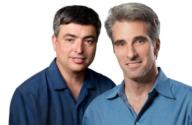 Eddy Cue y Craig Federighi