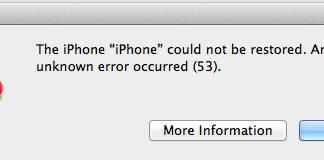 Error 53 por cambiar el botón Home del iPhone 6