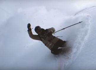Esquiando a cámara lenta con un iPhone encima