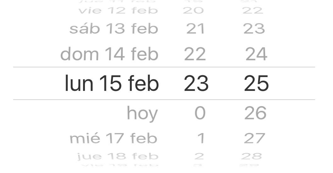 Selector de fechas en iOS