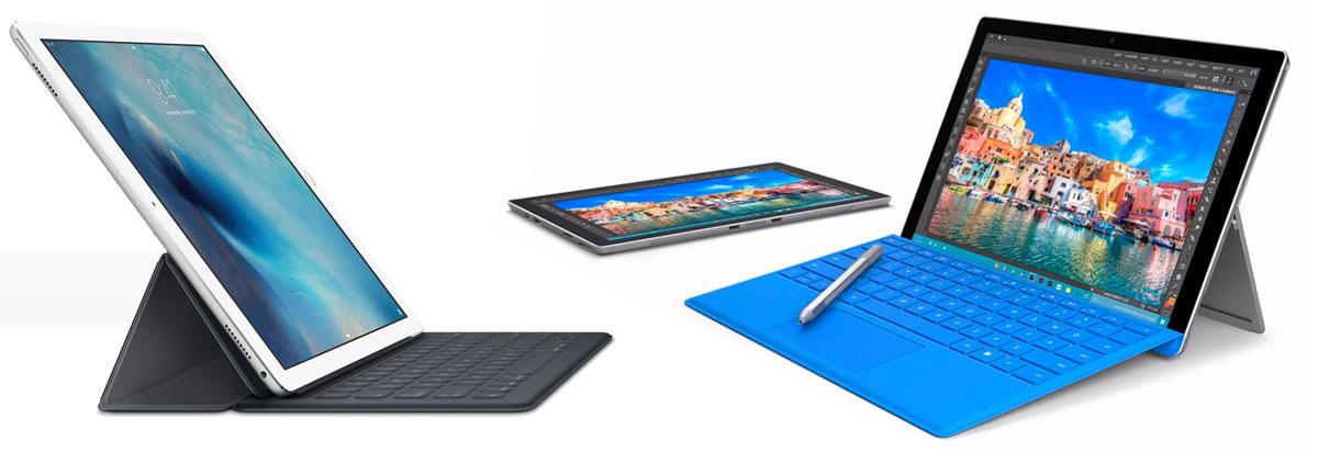 iPad Pro y Microsoft Surface