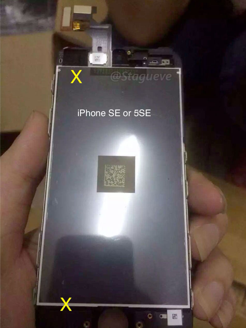 Supuesta Pantalla del iPhone SE