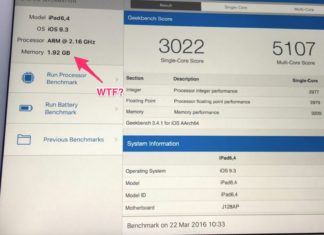 2GB de RAM en el iPad Pro