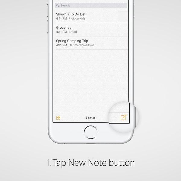 Crear nota nueva en la App de Notas
