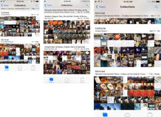 App de Fotos en los tres tamaños de pantalla