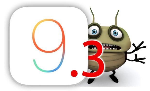 Bug en iOS 9.3