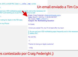 Email recibido de Craig Federighi