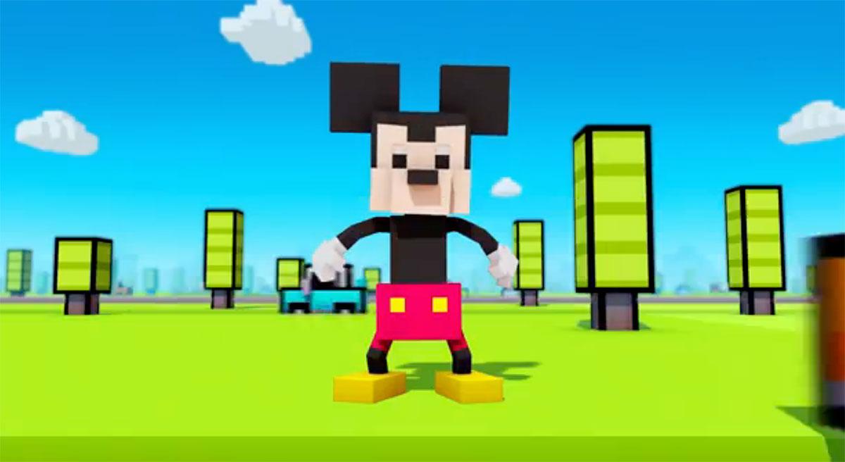 Mickey Mouse en Crossy Road