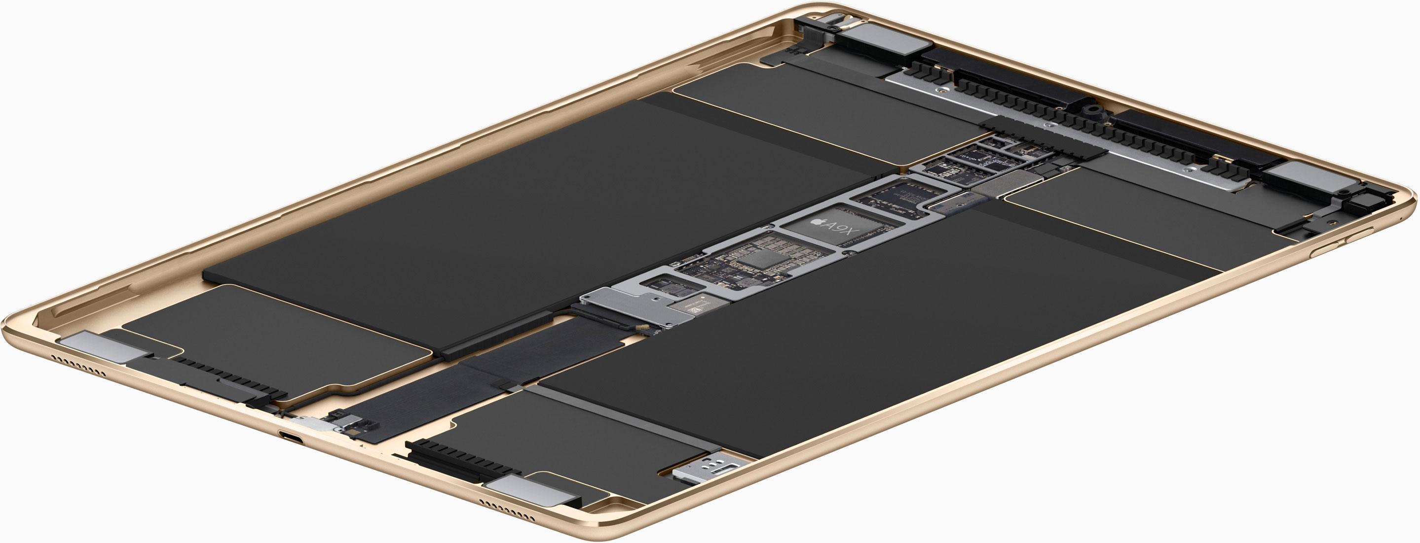 iPad Pro de 9,7 pulgadas por dentro