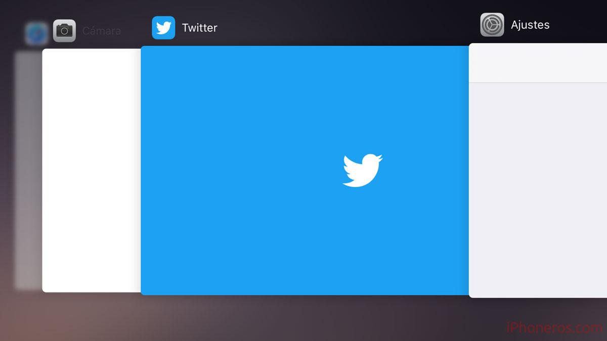 Sin capturas de pantalla en el modo multitarea de iOS