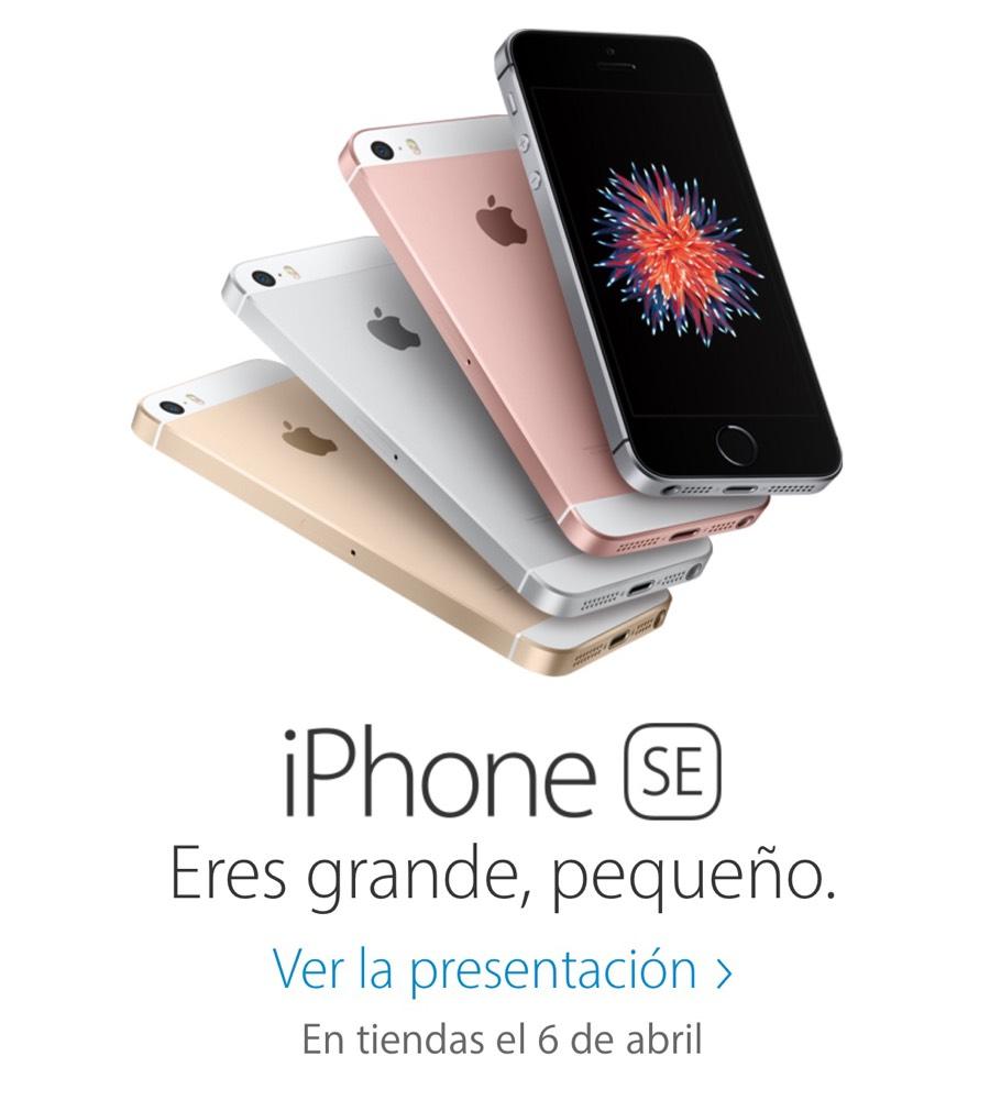 iPhone SE en tiendas de España el 6 de Abril