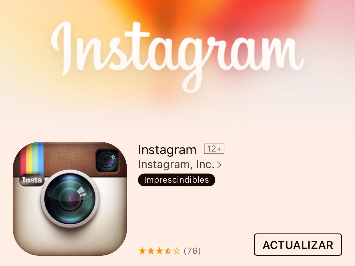 Actualización de Instagram