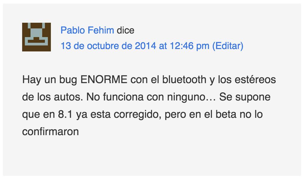 Comentario de Pablo