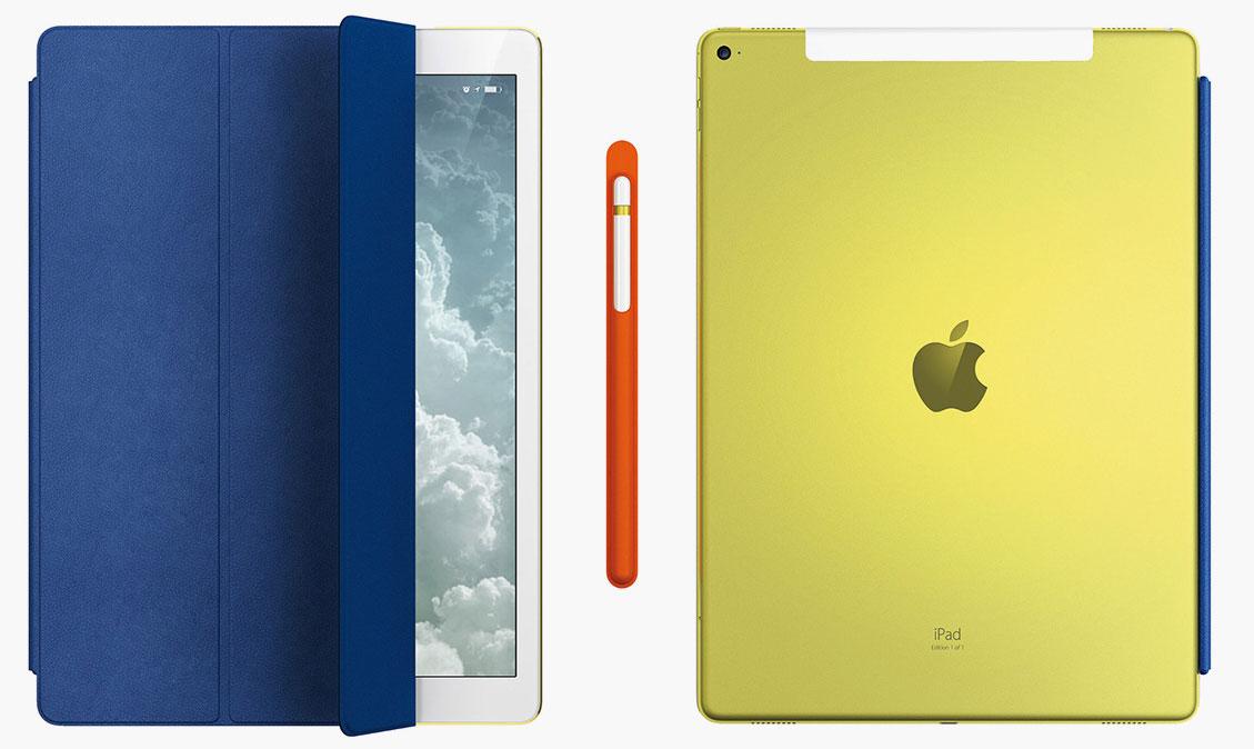 Edición 1 de 1 del iPad Pro amarillo