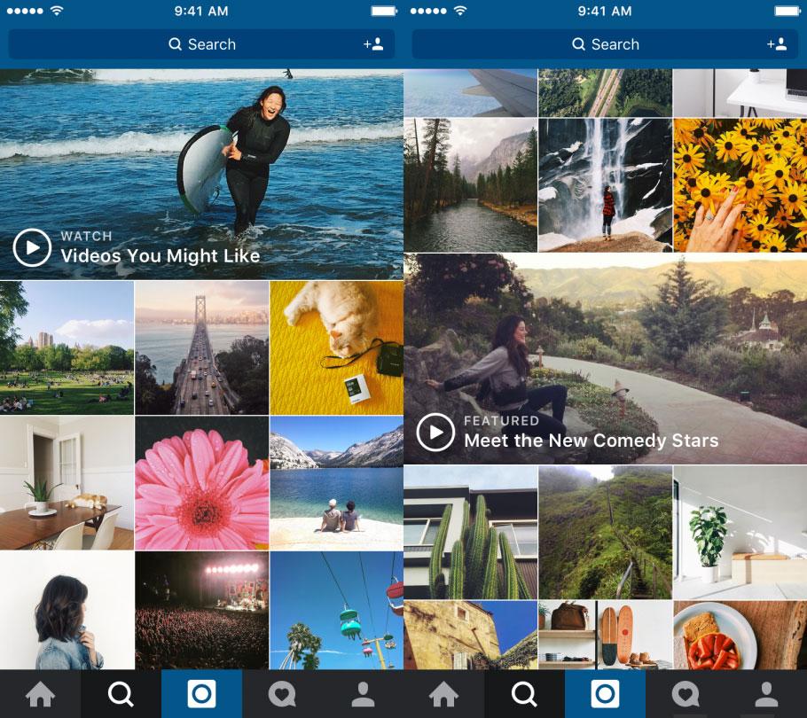 Canales de vídeo en Explore