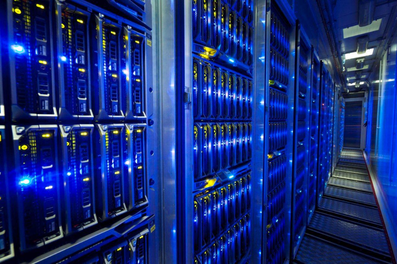 Servidores en un centro de datos