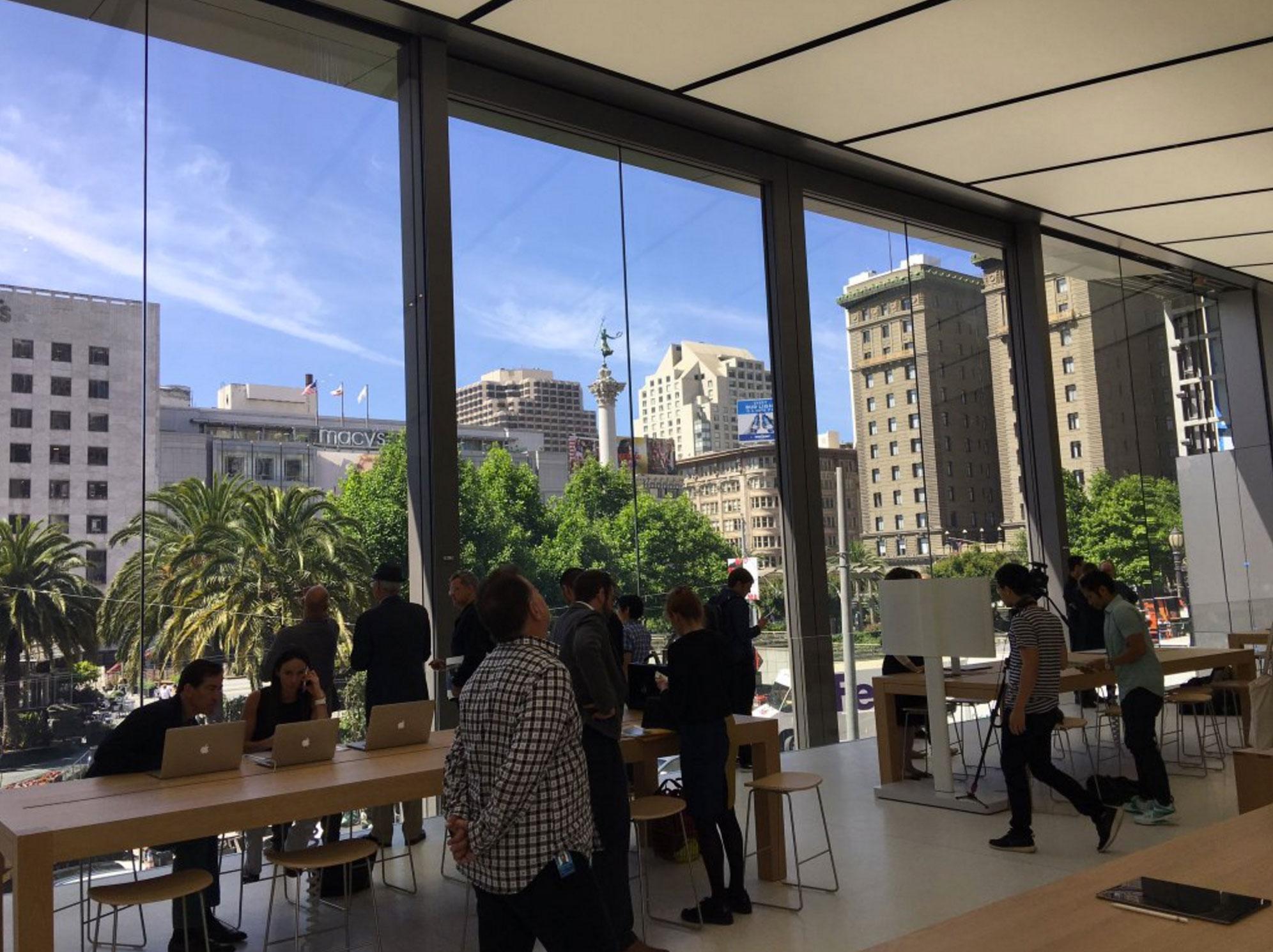 Así es la impresionante nueva Apple Store de Union Square en San ...