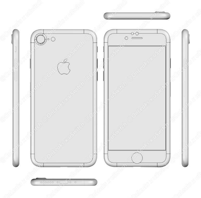 Esquema del supuesto iPhone 7