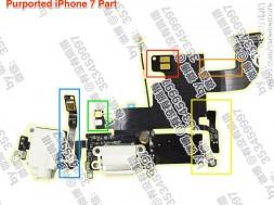 Supuesto conector Lightning y auriculares del iPhone 7