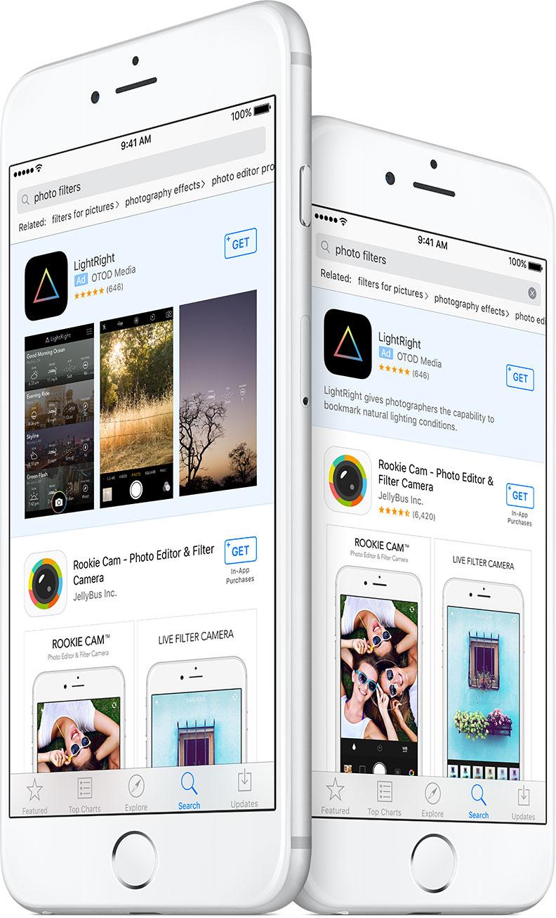 Anuncios en resultados de búsquedas de la App Store
