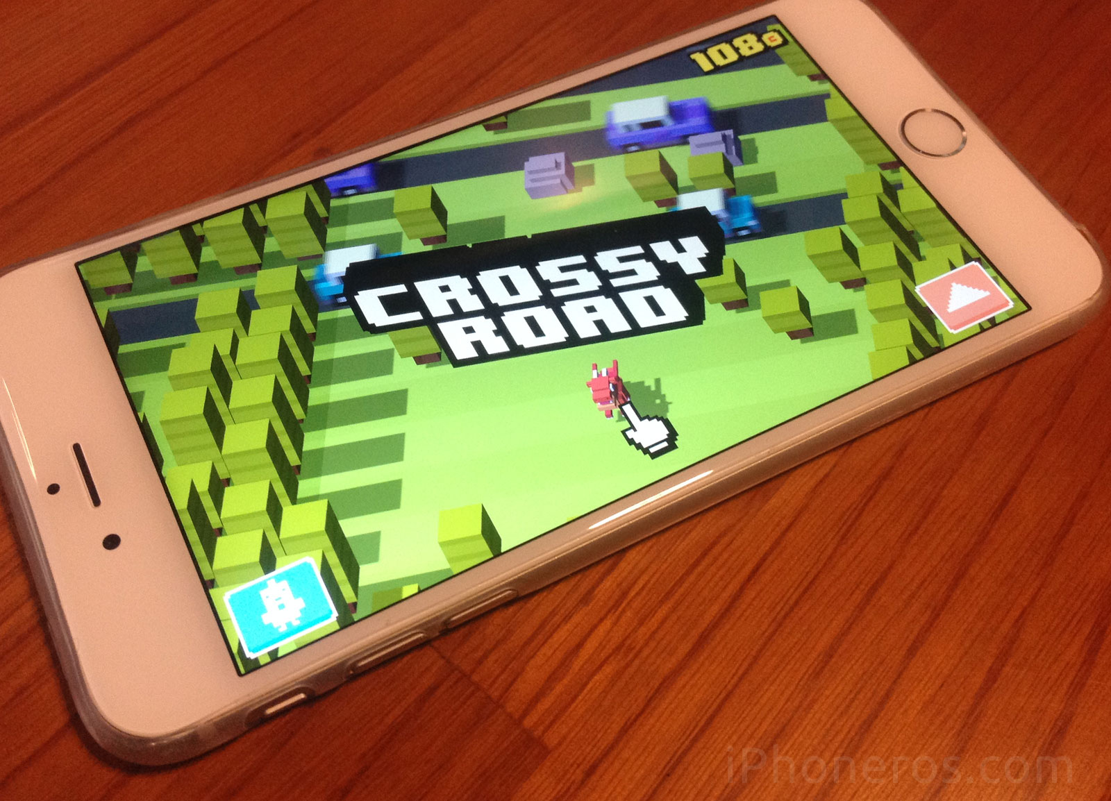 Crossy Road en un iPhone 6 Plus