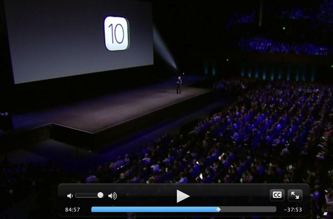 Vídeo de la Keynote de la WWDC 2016