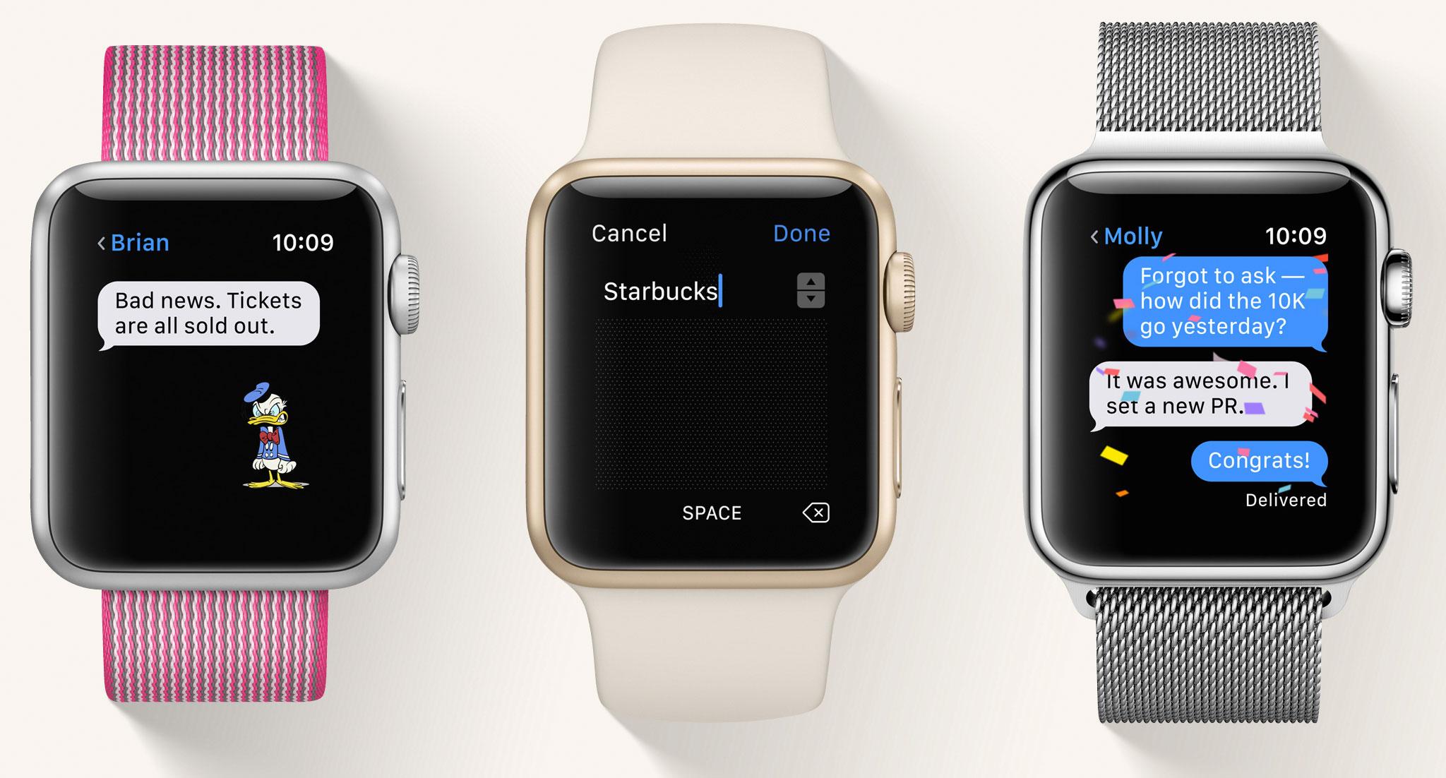 App de Mensajes en watchOS 3