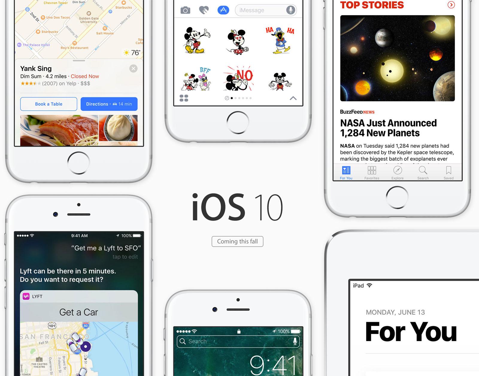 Novedades de iOS 10