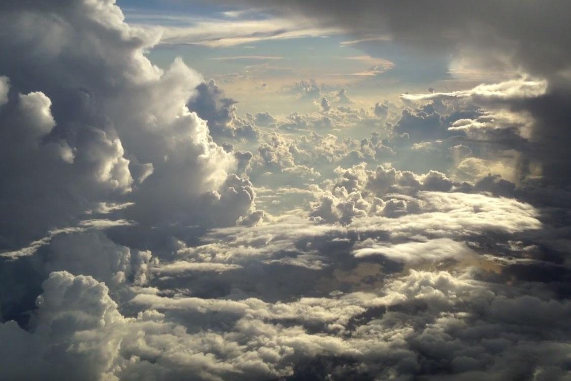 Nubes en Grabado con un iPhone