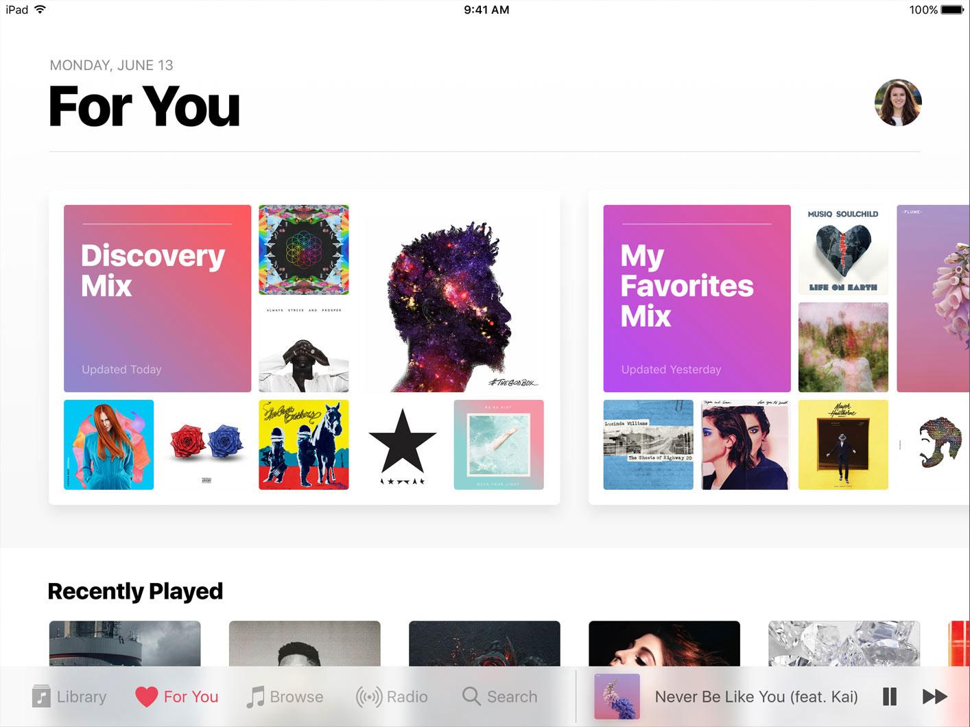 Nueva App de Apple Music