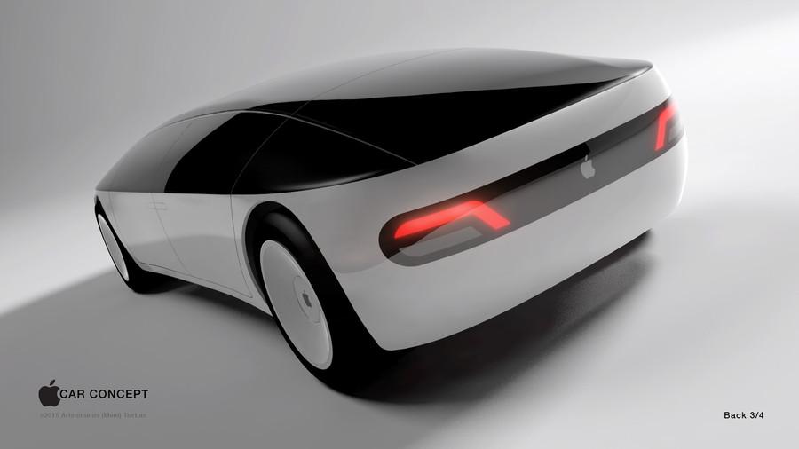 Concepto de boceto de coche de Apple