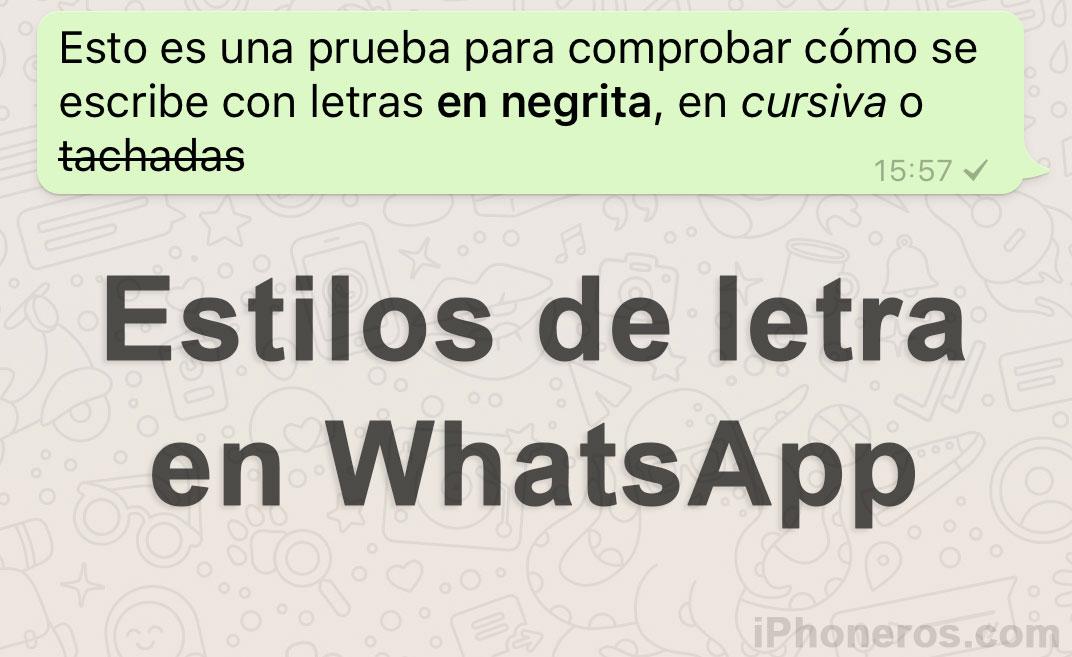 C mo escribir con letras cursivas o negritas en whatsapp for Como se escribe beta