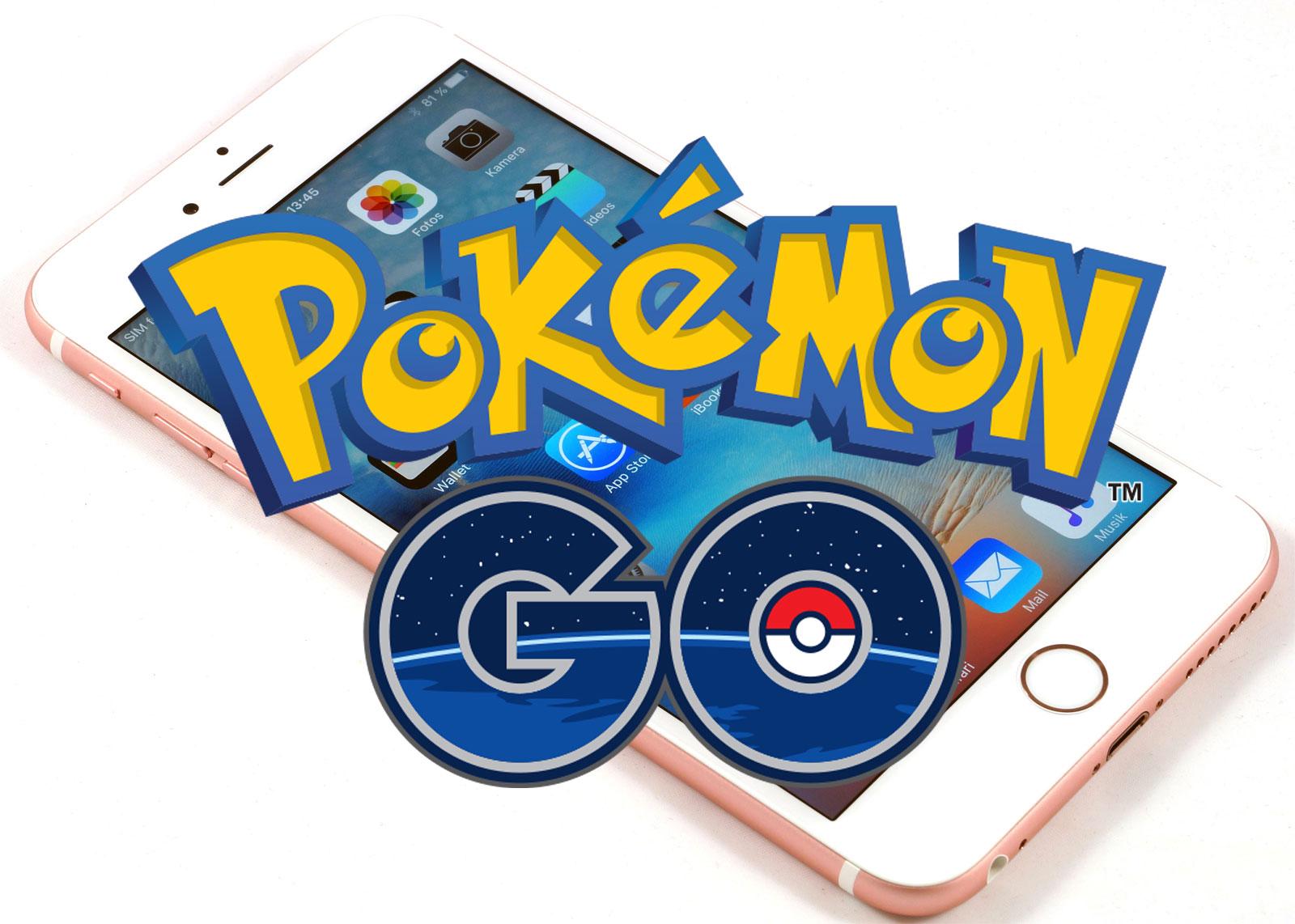 Logo de Pokemon Go sobre un iPhone
