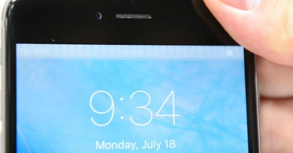 Barra gris en la monitor del iPhone
