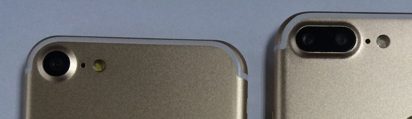 Borde de la cámara en el supuesto iPhone 7